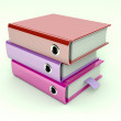 3d illustration of archive folders stack — Stock Photo