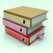 Stock Photo: 3d illustration of archive folders stack