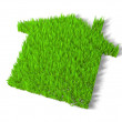 Stockfoto: Green echo house metaphor