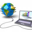 Global network the Internet — Foto Stock