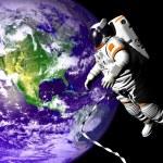 Flying astronaut — Stock Photo #13324895