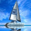 Stock Photo: Modern sail boat