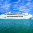 Huge oceanic liner in high sea — Stock Photo #13325836