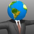 Businessman Globe — Stock Photo