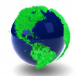 Stock Photo: Green Globe