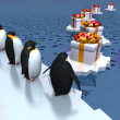 Fun penguins — Stockfoto