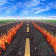 Stock Photo: Fire Road