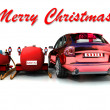 Christmas car — Foto de Stock