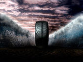 Super tyre — Stock Photo