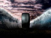 Super tyre — Stock Photo