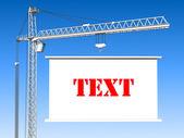 Elevating Construction Crane — Stock Photo