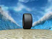 Sport tyre — Stock Photo