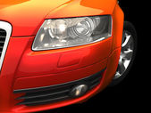 Carro vermelho — Foto Stock