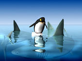 Extreme penguin — Stock Photo