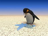 Roliga pingviner — Stockfoto