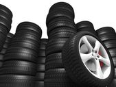 Big Tyres — Stock Photo