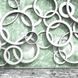 White rings on an old dirty wall — Stock Photo