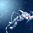 The astronaut on in an outer space against stars — Stock Photo #27866279