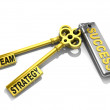 "A keys with words ""team"", ""strategy"" and ""success"" , business concept — Stock Photo"