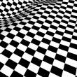 Checkered texture 3d background — Stock Photo