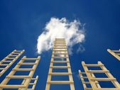Sky ladder — Stockfoto