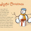 Stock Photo: Christmas greetings snowman
