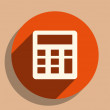 Foto Stock: Flat long shadow icon of calculator