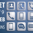 9 Universal 3D Icons for Web, Mobile, business and communication — 图库照片 #42395299