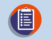 Flat long shadow icon of clipboard — Stock Photo