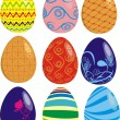 Easter eggs — Stock Vector