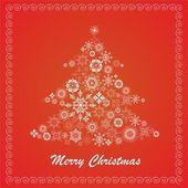 Bont-kerstboom — Stockvector