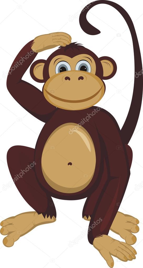 рисунки обезьяны для раскрашивания