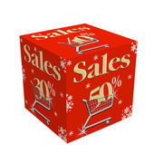 Sales cube — Stock Photo