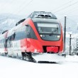 Winter train — Stock Photo
