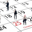 Corporate business calendar for december and christmas — Stock Photo