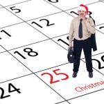 Finally Christmas - businessman happy around holidays — Stock Photo