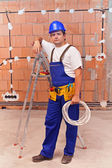Electrician at work site — Stock Photo