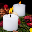 Christmas candles on advent wreath — Stock Photo #13854478