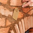Building a masonry heater - detail — Stock Photo
