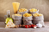 Still life with traditional food ingredients — Stock Photo
