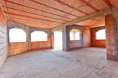 New brick construction interior — Photo