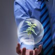 Magical solution to the environmental issue — Stock Photo