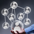 Social networking in business - Foto Stock