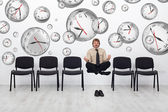 Project manager bending time to meet deadlines — Stock Photo