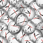 Clocks in bubbles - deadlines and time management concept — Стоковое фото