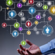 Stock Photo: Social networking in business