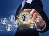 Sociale netwerken concept — Stockfoto