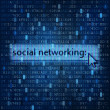Social networking digital media background — Stockfoto