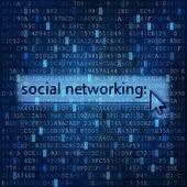 Social networking digital media background — Stock Photo