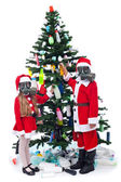 Christmas with plastic - environmental concept — Stockfoto